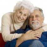 Portrait of a happy couple of elderly — Stock Photo
