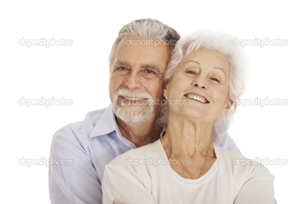 Portrait of a happy couple of elderly — Stock Photo #4828687