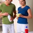 Couple having breakfast — Stock Photo #4996448