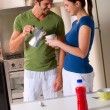 Couple having breakfast — Stock Photo #4996463