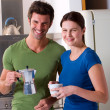 Couple having breakfast — Stock Photo #4996479