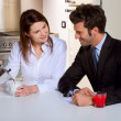 Couple in the kitchen — Stock Photo #4999848
