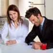 Couple in the kitchen — Stock Photo #4999898