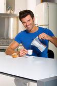 Man drinking coffee — Stock Photo