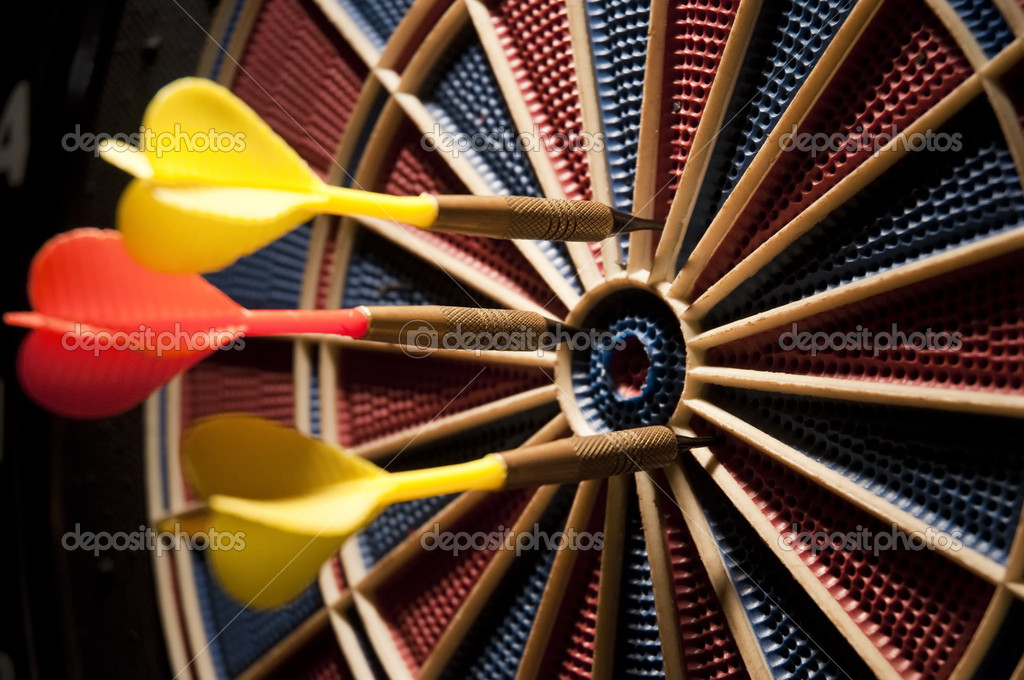 Closeup of darts  — Stock Photo #4327570