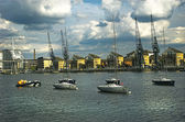 Victorias docks, london — Stockfoto