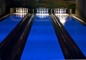 Bowling lanes — Stock Photo