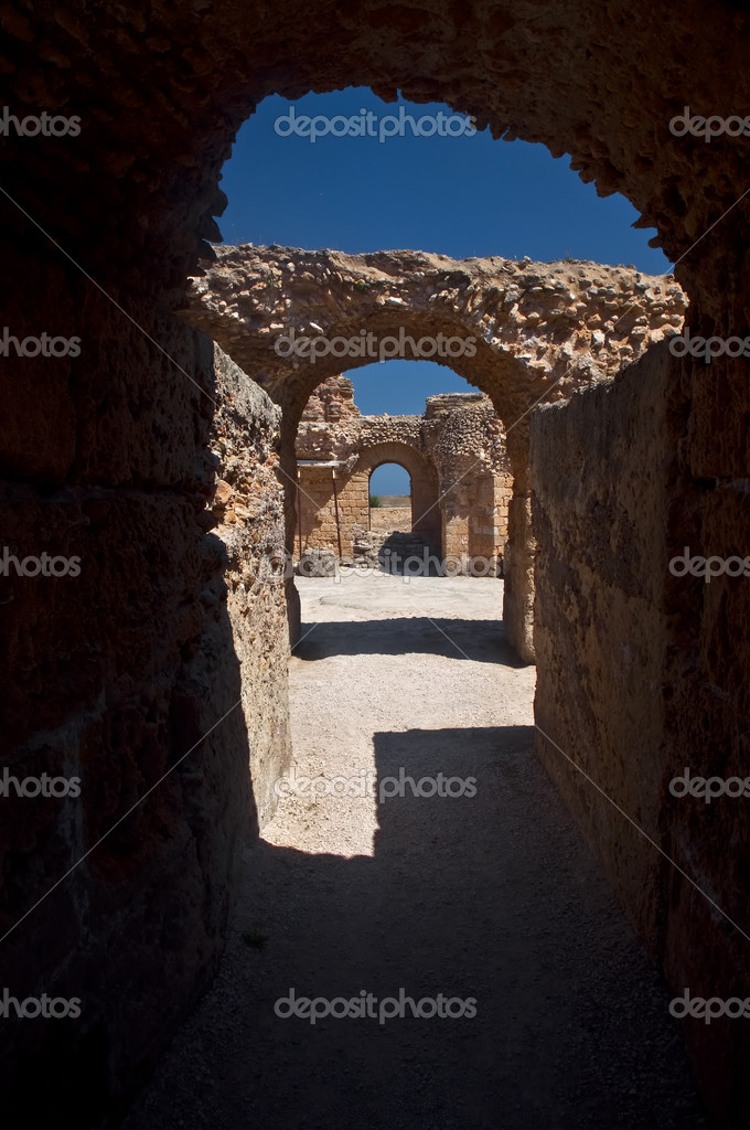 Fragment of ruins of Carthage, Tunisia  Stock Photo #4561351