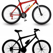 Isolated image of bike — Vector de stock #4387470
