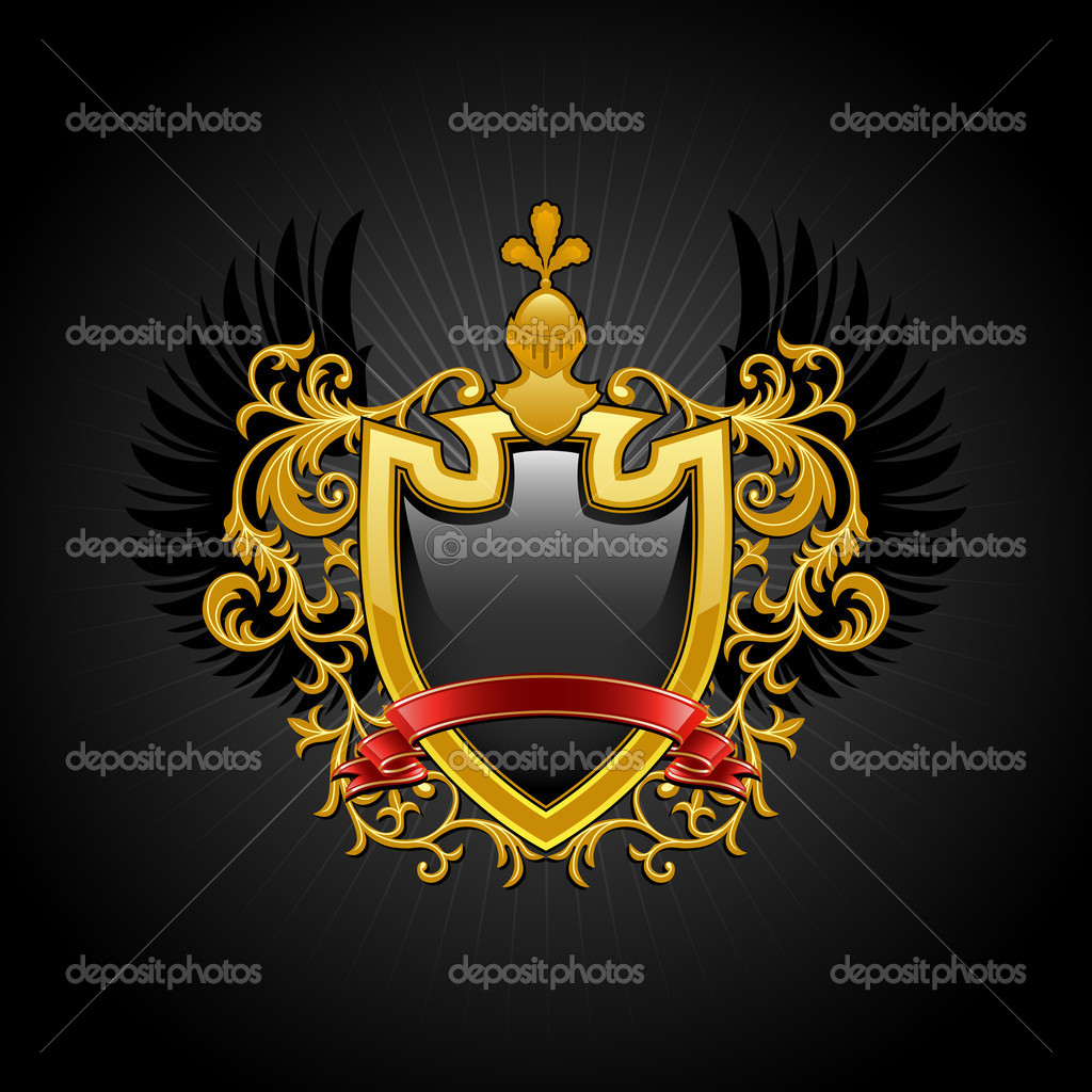 Coat of arms. Vector illustration. — Stock Vector #4439439