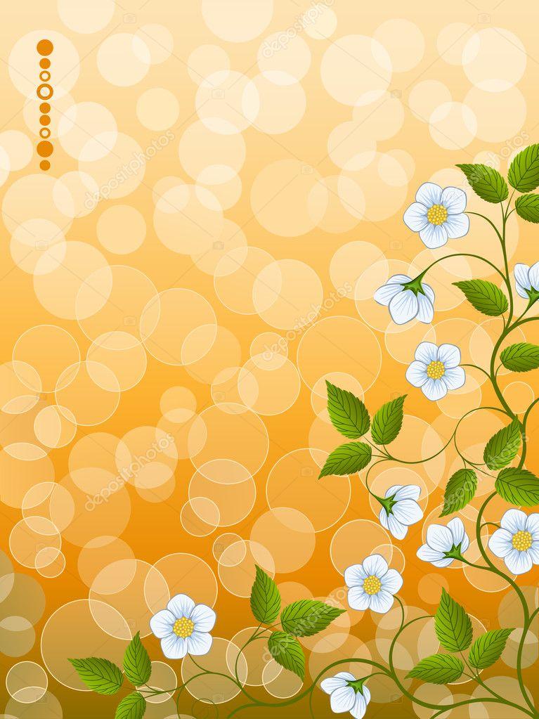 花卉背景 — 图库矢量图像08