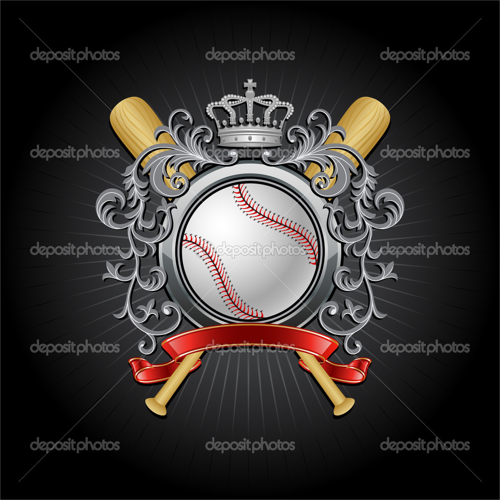Baseball coat of arms. Vector illustration. — Stock Vector #4955232