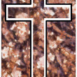 Peach Blossom Christian Cross — Stock Photo