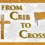 Crib to Cross Christian Art (Shadow) — Stock Photo #4516989