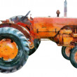 Tractor Oil Painting — Stock Photo