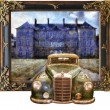 Stock Photo: Vintage cars (3D oil painting)