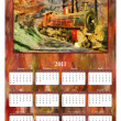 2011 Annual Calendar - Steam Train — Stock Photo