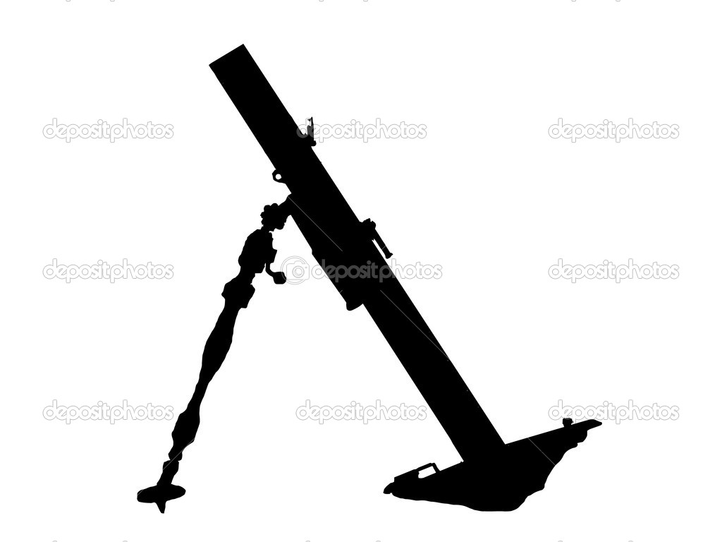 WW2 Series - Soviet 82 PM37 light mortar launcher  Stock Vector #4798263