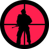 In the Scope Series - Soldier — Stock Vector