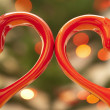 Stock Photo: Pair of hearts