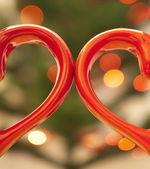 Pair of hearts — Stock Photo