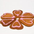 Flower of gingerbread cakes — Stock Photo