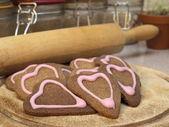 Valentin cookies — Stockfoto