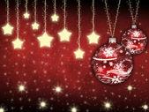 Estrellas y juguetes de navidad — Foto de Stock