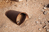 Rusty steel jar — Stock Photo