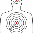 The target for shooting — Imagen vectorial