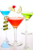 Colorful Cosmopolitan cocktails — Stock Photo