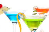 Martini Cocktails with tropical flavours — Stock Photo