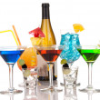 Stock Photo: Most popular alcoholic cocktails drink composition