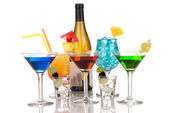 Most popular alcoholic cocktails drink composition — Stock Photo