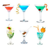 Cocktails collage collection — Stock Photo