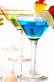 Martini Cocktails drinks composition — Stock Photo