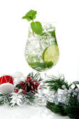 Mojito christmas drink — Stock Photo
