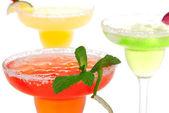 Popular Margarita cocktails row — Stock Photo
