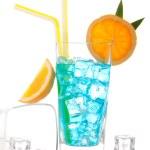 Blue hawaiian lagoon curacao cocktail — Stock Photo #5229083