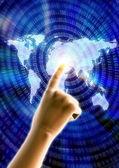 Tocando a tecnologia — Fotografia Stock