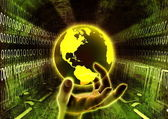 The world is in hand — Stock Photo