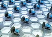 Datornätverk — Stockfoto