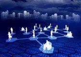 Internet Social Network 03 — Stock Photo