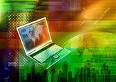 Concept d'ordinateur portable Internet — Photo