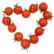 Tomatoes cherry in the form of the heart — Foto de Stock