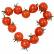 Tomatoes cherry in the form of the heart — ストック写真