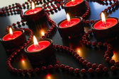 Christmas red candles. — Stockfoto