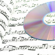 Score and music CD. — Foto Stock