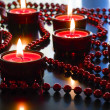 Christmas red candles. — Foto de Stock