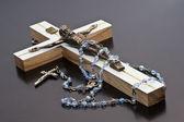 Jesus and rosary — Stock Photo